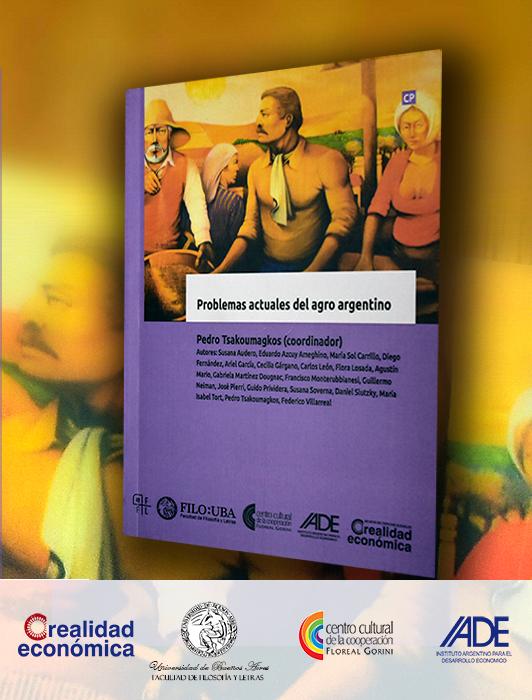 """La imagen muestra la portada del libro """"Problemas acutales del agro argentino""""."""