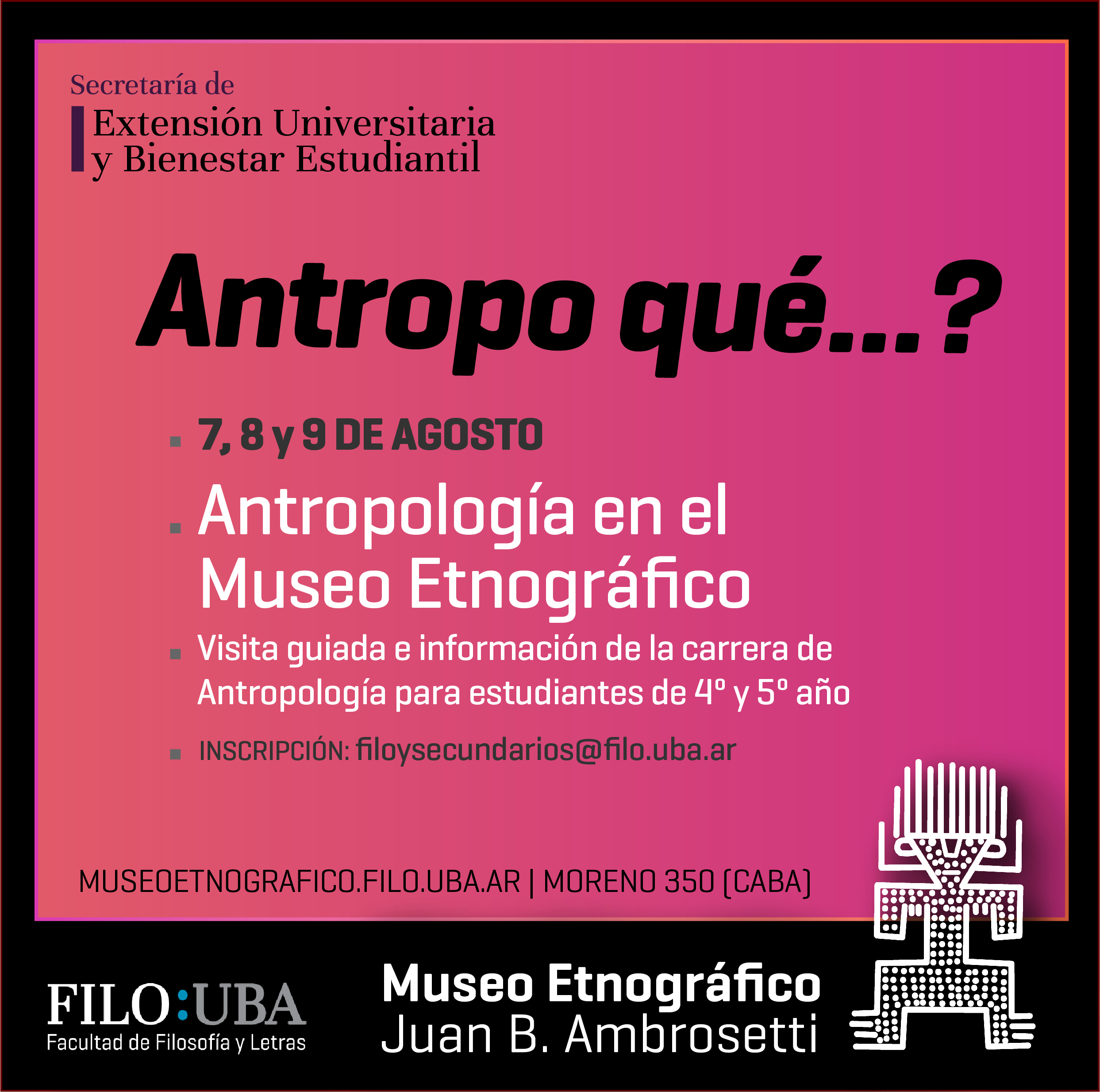 Flyer del Museo Etnográfico.