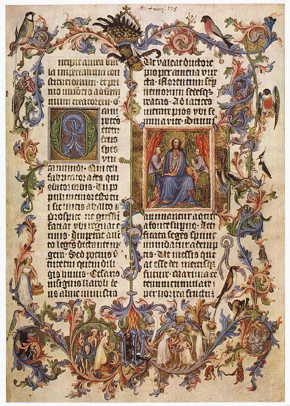 La imagen muestra la primera página de la Bula de Oro del rey Carlos IV de Bohemia.