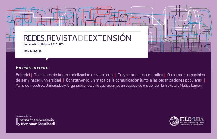 Portada de la Edición Número 3 de la Revista Redes de Extensión