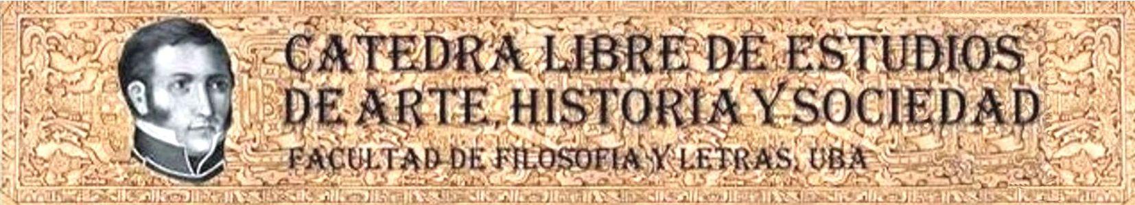 La imagen muestra el banner de la Cátedra Libre, con el nombre de la Cátedra y una imagen del rostro de Dorrego.