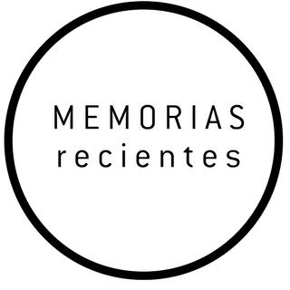 Logo del Programa: Texto MEMORIAS recientes en un círculo.